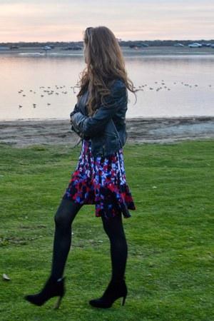 black Target tights - black suede Zara boots - Peter Pilotto For Target dress