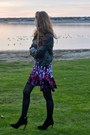 Black-suede-zara-boots-peter-pilotto-for-target-dress