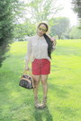 Brown-leopard-pre-order-wedges-red-target-shorts-beige-tjmaxx-top