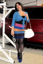 heels - blazer - tights - bag - just ginger pencil skirt