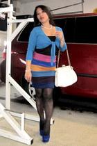 heels - blazer - tights - bag - just ginger pencil skirt