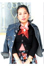 Black-avon-boots-navy-denim-jacket-orange-dkny-purse-black-kohls-cardigan