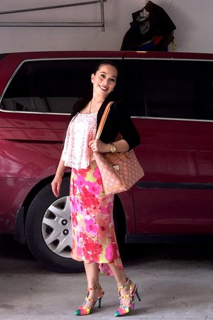 skirt - Dooney & Bourke bag - sandals - cardigan
