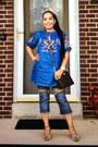 Denim-dress-jeans-michael-kors-bag-michael-kors-watch
