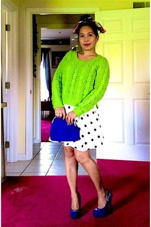 American Eagle sweater - bag - Forever 21 skirt - pumps
