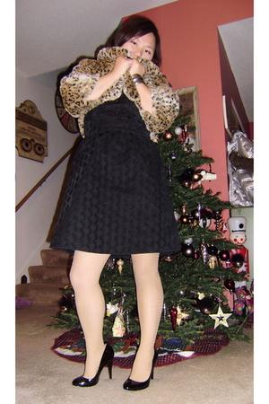black Go International dress - brown Mossimo jacket - black Mossimo shoes - beig