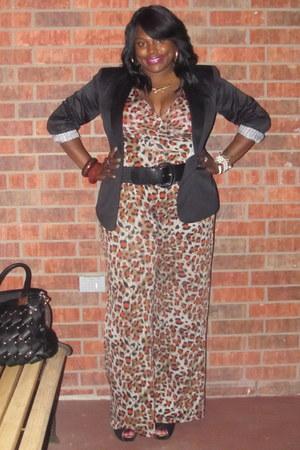black leopard print Dots jumper - ivory Shoe Dazzle boots