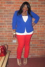 Red-new-york-company-jeans-blue-eloquii-blazer-michael-kors-bag