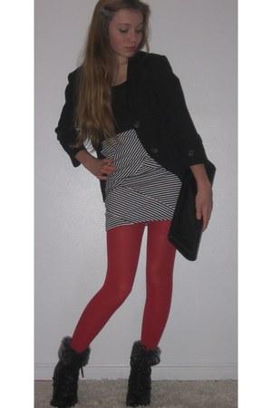 Target skirt - XCVI blazer - Target tights - clutch vintage bag