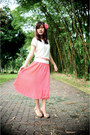 Salmon-coral-esgino-belt-bubble-gum-coral-twonine-skirt
