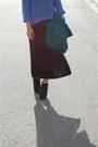 Black-high-slit-gap-dress-black-dolce-vita-boots