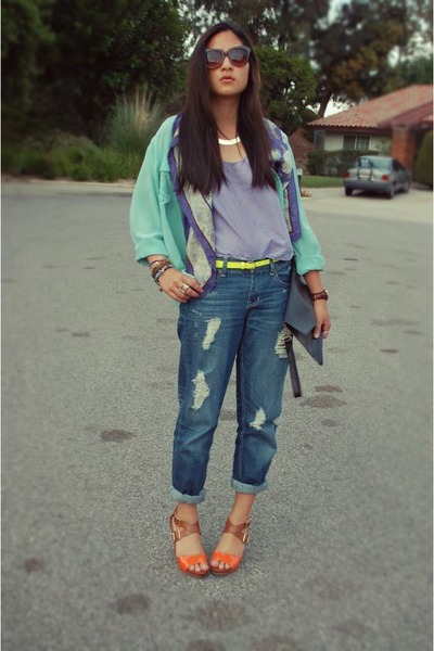 Boyfriend Jeans Cotton On Jeans, Paisley Silk Thrifted Scarves ...