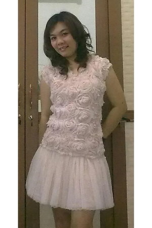 chiffon Topshop blouse - tutu no brand skirt