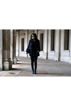 Zara blazer - Boutique 9 boots - Forever 21 jeans - Zara bag