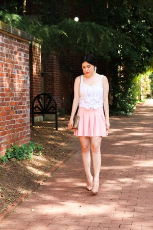 abercrombie and fitch top - Zara skirt - Christian Louboutin heels