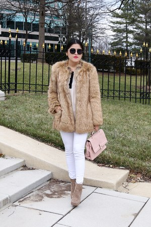 Zara boots - Zara coat - Zara jeans - Zara bag - Forever 21 blouse