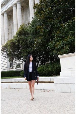 Zara blazer - Zara shorts - Zara top - tony bianco heels