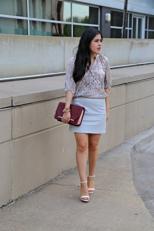 Zara bag - H&M skirt - Zara sandals - Urban Outfitters blouse