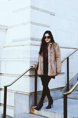 Zara boots - Zara coat - Zara shirt - Zara bag - Zara skirt