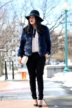 Zara jacket - Forever 21 blouse - Zara pants - Christian Louboutin heels