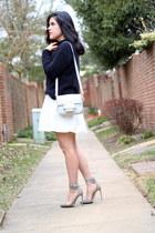 H&M bag - Zara skirt - Renvy heels