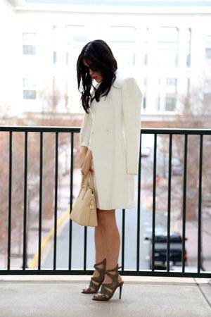 Zara coat - SANDRO dress - Zara bag - Zara heels