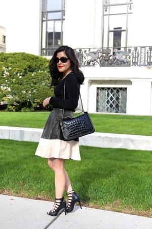 Zara bag - Zara skirt - H&M top - Zara heels
