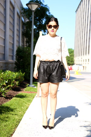 Zara bag - Zara shorts - Zara top - Christian Louboutin heels
