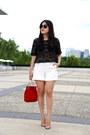 Zara-shorts-h-m-sunglasses-christian-louboutin-heels
