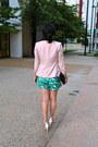 H-m-blazer-dkny-bag-zara-shorts-h-m-sunglasses-ann-taylor-blouse