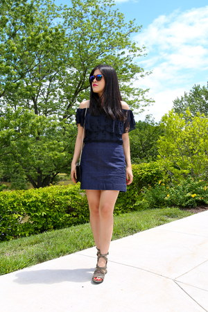 hm sunglasses - Gap skirt - Zara sandals - abercrombie and fitch top