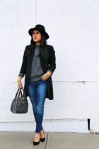 Zara jeans - Zara hat - DKNY blazer - Zara bag - Zara jumper - Zara heels