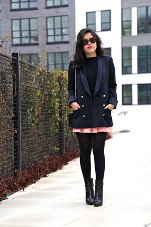 Zara jacket - Boutique 9 boots - Zara sweater - Barneys New York bag