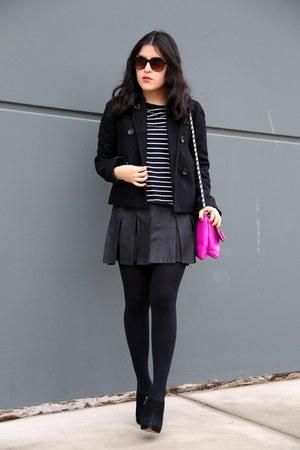 Zara top - sam edelman boots - Martin & Osa jacket - kate spade bag - Zara skirt