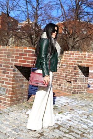 Zara jacket - Boutique 9 boots - Zara bag - Gap top - ann taylor pants