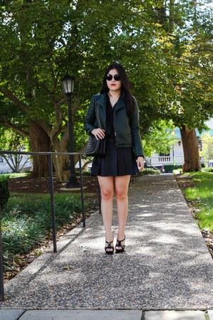 Zara jacket - Zara bag - Zara skirt - Zara top - YSL heels