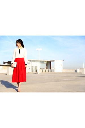 H&M purse - vintage skirt - Christian Louboutin heels - Forever 21 blouse