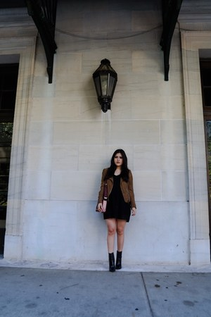 Zara boots - Zara dress - Zara jacket - Zara bag