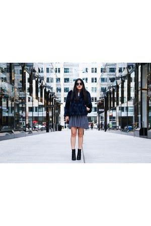 Zara jacket - Zara boots - H&M sunglasses - Forever 21 skirt