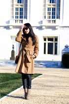banana republic coat - Zara pants - Zara pants