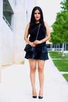 Zara shorts - Barneys New York bag - Christian Louboutin heels - Zara top