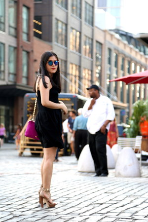 Zara dress - kate spade bag - H&M sunglasses - Zara heels
