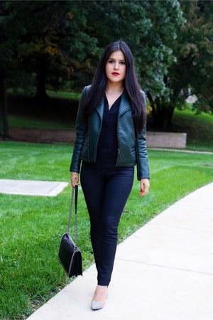 Zara jacket - H&M jeans - Zara bag - Zara top - Renvy heels