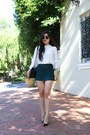 Zara-bag-zara-shorts-zara-top-christian-louboutin-heels