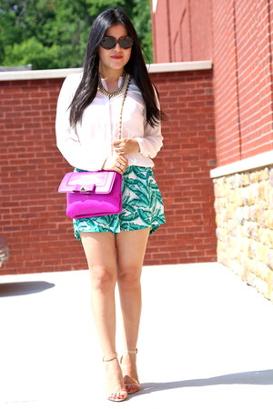 Zara shorts - kate spade bag - Ralph Lauren sunglasses - Zara blouse