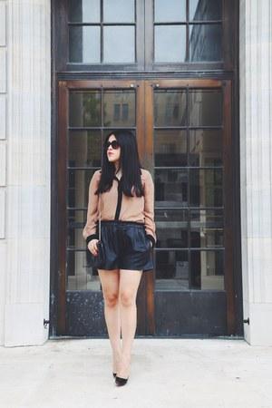 Barneys New York bag - Zara shorts - Christian Louboutin heels