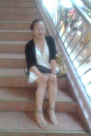 shorts - blouse - sandals