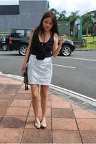 Zara top - Zara skirt - - london shoes