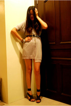 thrifted dress - belt - rajo laurel shoes