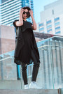 Black-plants-cyeoms-dress-black-crop-american-apparel-top